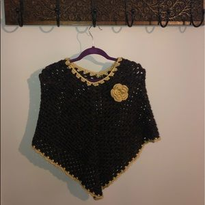 Sweaters - Girls Knitted Poncho